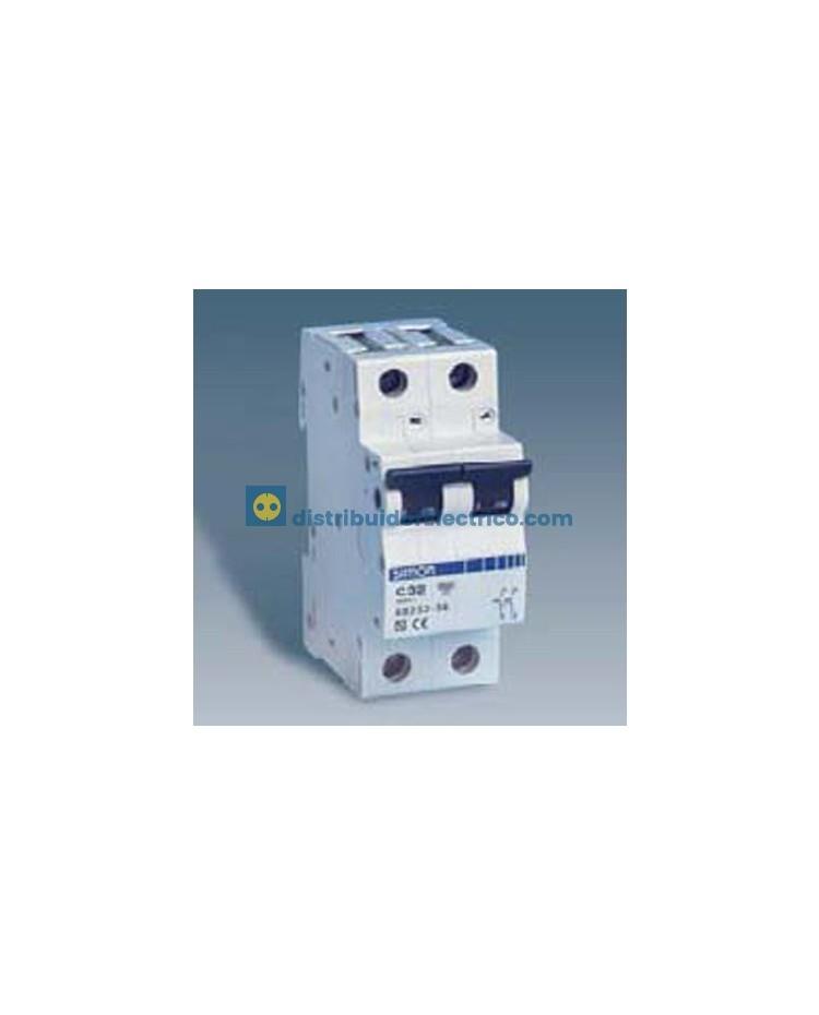 68506-36 - Interruptor automático magnetotérmico 6 KA 6A, Polos 1+N, tecla negra, curva C