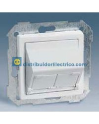82579-30 Adaptador universal 2 conectores blanco