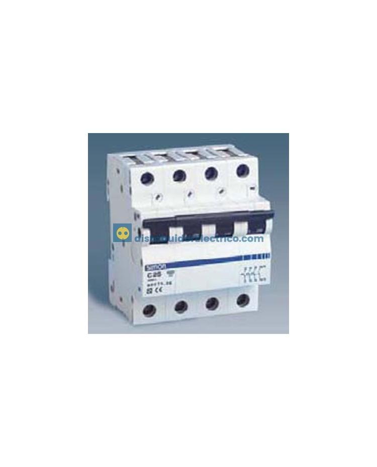 68416-36 - Interruptor automático magnetotérmico 6 KA, 16A, Polos 4, tecla negra, curva C