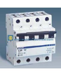 68440-36 - Interruptor automático magnetotérmico 6 KA, 40A, 4 Polos 4, tecla negra, curva C