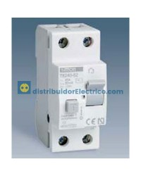 78225-62 - Interruptor diferencial clase AC 30 mA, domestico, tecla gris, 230V. 25A.