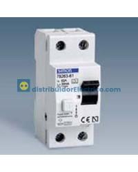 78463-60 - Interruptor diferencial clase AC, sensibilidad 30 mA,  tecla negra, 230V. 63A, 4 polos, 4 modulos.