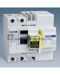 78463-76 - Interruptor diferencial Auto-rearmables 230V, 30mA, 4P63A, 4 modulos, tecla negra, rearme por tiempo.
