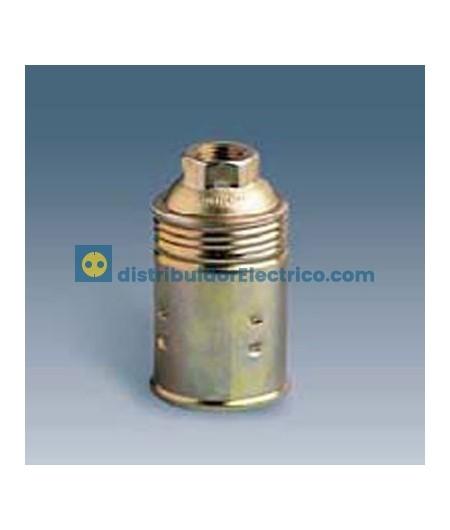 00531-32 - Portalámparas rosca mignon E14, 2 a 250V, acero latonado interior en resina termoestable,