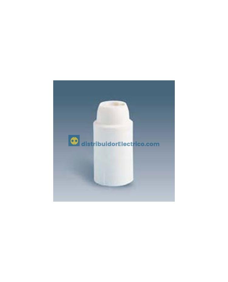 00588-32 - Portalámparas rosca mignon E14, 2 a 250V, Color marron, termoplástico PBT GF, rácor M 10x1 tornillo prisionero.