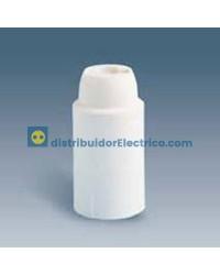 00588-31 - Portalámparas rosca mignon E14, 2 a 250V, Color Blanco, termoplástico PBT GF, rácor M 10x1 tornillo prisionero.