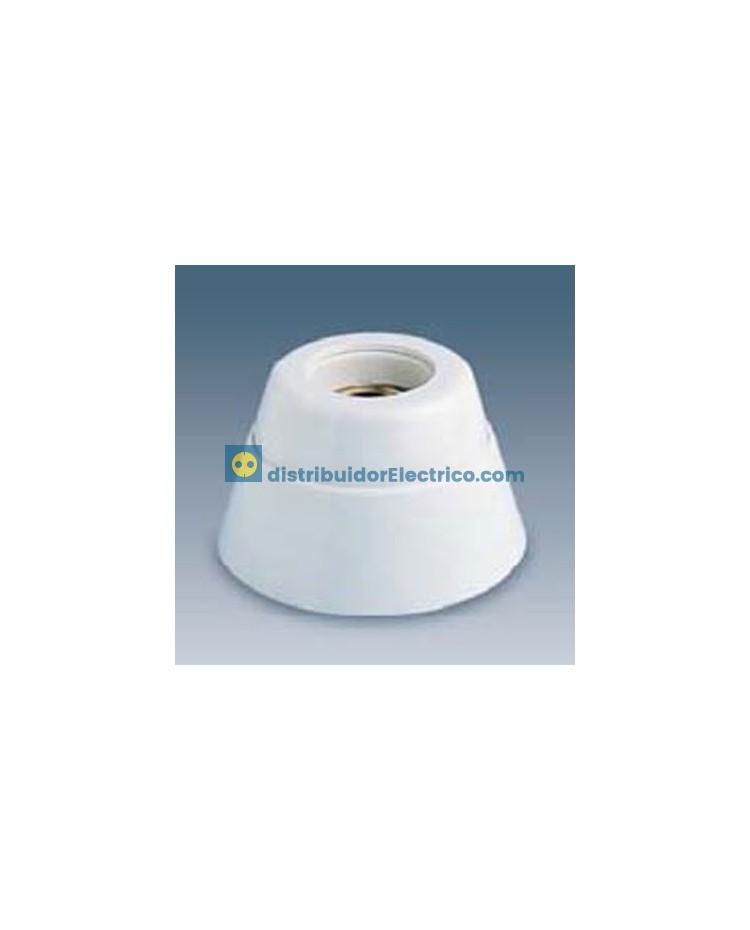 00590-31 - Portalámparas rosca normal E27, 4 a 250V. Zócalo recto,cuerpo en resina termoestable, interior de porcelana.