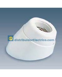 00591-31 - Portalámparas rosca normal E27, 4 a 250V. Zócalo inclinado,cuerpo en resina termoestable, interior de porcelana.