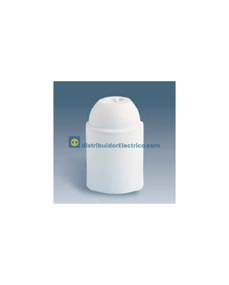 00579-31 - Portalámparas rosca normal E27, 4 a 250V, Blanco, Termoplástico PBT, GF, emborramiento rápido,