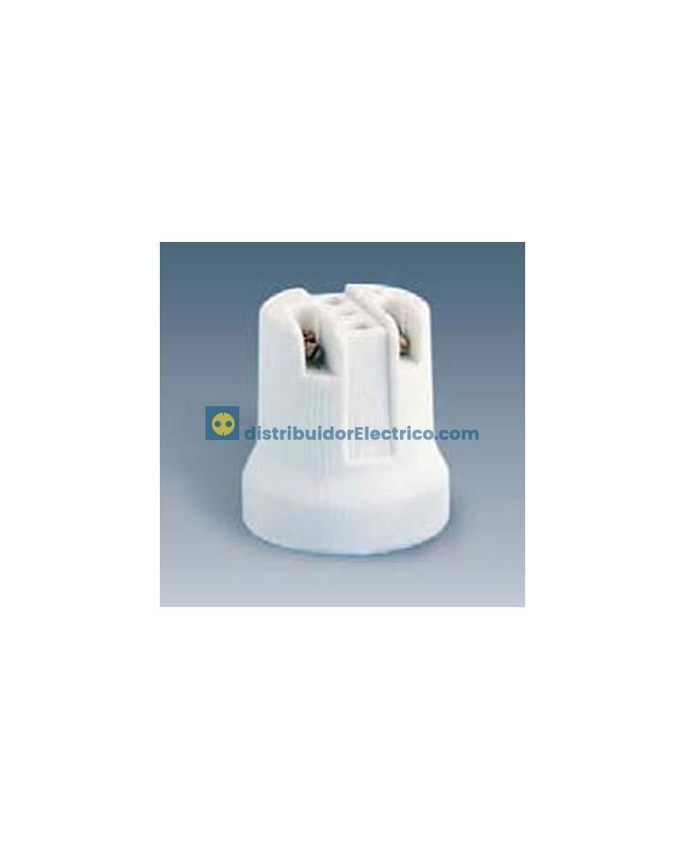 10517-31 - Portalámparas rosca normal E27, 4 a 250V, Porcelana con suplemento puente, rácor M 10x1).