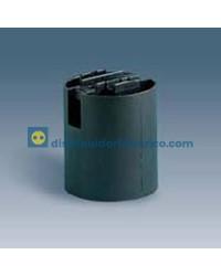 10579-32 - Portalámparas rosca normal E27, 4 a 250V, Termoplástico PBT, GF, emborramiento rápido, especial para obras.