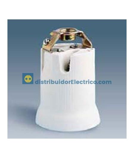 10562-31 - Portalámparas rosca goliat E-40, 16A a 250V. Reforzado, porcelana, rácor 3/8 gas.