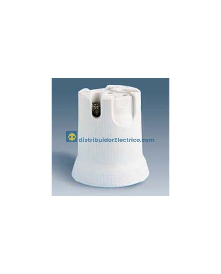 10563-31 - Portalámparas rosca goliat E-40, 16A a 250V. Reforzado, porcelana, (para fijación por medio de tornillos 5mm.