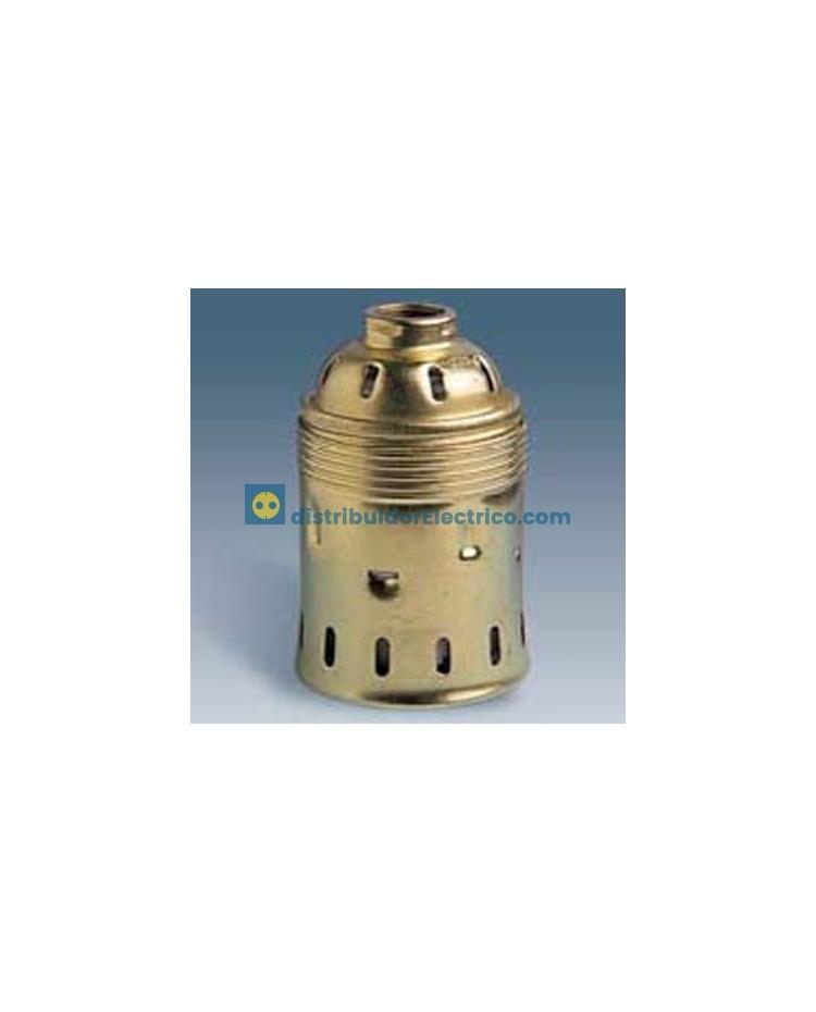 00561-35 - Portalámparas rosca goliat E-40, 16A a 250V. Latón- porcelana, rácor 3/8 gas.