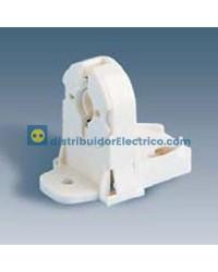 55567-31 - Portalámparas para fluorescentes G-13, 2A 250V.  termoplástico PC, fijación por tornillos, con portacebador.