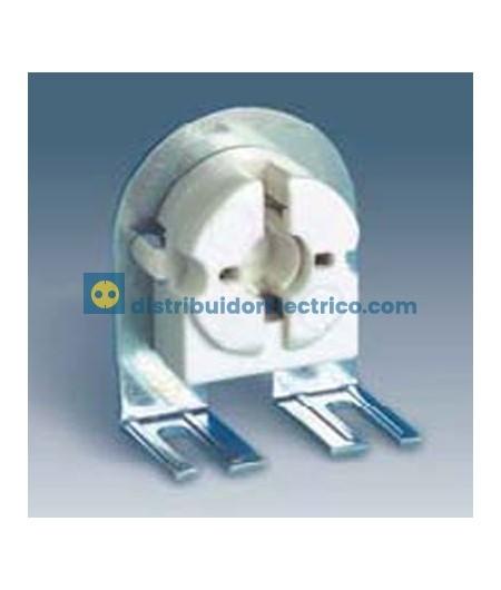 55572-31 - Portalámparas para fluorescentes G-13, 2A 250V.  termoplástico PC,  con soporte metálico,embornamiento rápido.