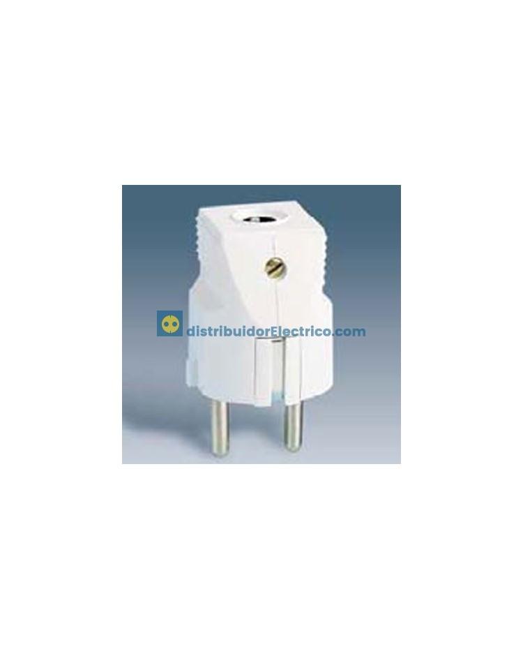 10431-31 - Clavijas de enchufe 16A 250V. Bipolar con contacto de tierra lateral schuko termoplástico.