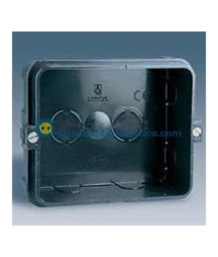 48720-35 - Caja empotrar, material termoplastico. (Para bases de enchufe 48453-31 y 48473-31)