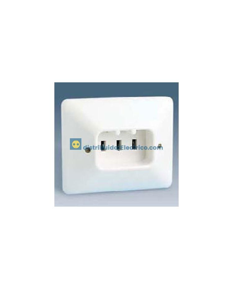 10436-31 - Bases enchufe Bipolar, 25A 250V. empotrable, con TT para cocinas.