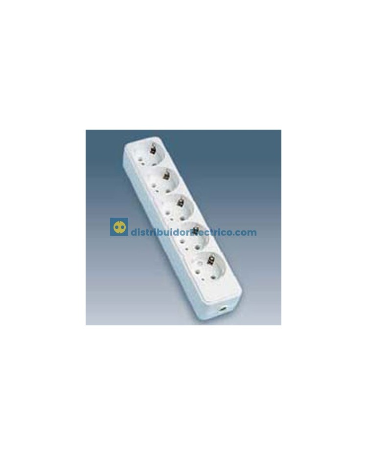 10405-31 - Bases enchufe multiple de superficie 16A 250V, 5x2P+TT lateral.