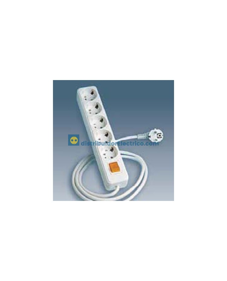 10424-31 - Bases enchufe multiple Bipolar, de superficie 16A 250V, 4x2P+TT lateral.+int.+cable.