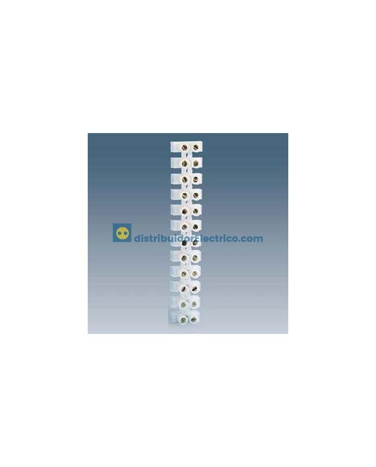 10828-31 - Regleta de conexión flexible, poliamida,12 elementos, sección nominal de 6mm2 a 10mm2, máx. 16mm2.