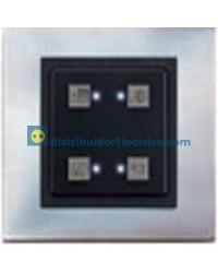 81510-38 Botonera multifuncional universal 4 pulsadores y 4 LED´s