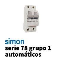 Simon 78 Grupo 1 Automáticos